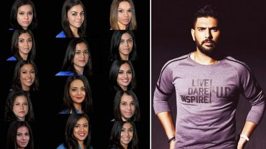 Yuvraj Singh Hilariously Trolls Virat Kohli, MS Dhoni and Others by Sharing Their Gender-Swap Pictures, Asks Fans 'Who Will You Select As Your Girlfriend?' (View Post)