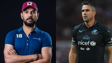 'Wish I Was There to Chuck Pies at You': Yuvraj Singh Extends Birthday Wishes to Kevin Pietersen in His Own Style