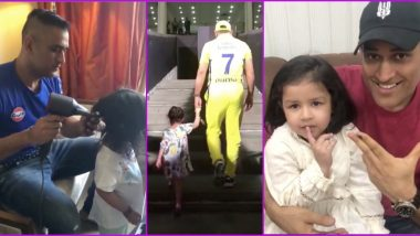 Father's Day 2020: These 10 Videos of MS Dhoni With Daughter Ziva Are a Proof That CSK Captain Is One Cute Dad