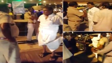 K Arjunan, Former DMK MP, Kicks And Verbally Abuses Policeman For Asking E-Pass Near Salem, Watch Video