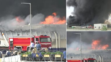 Ahmedabad Fire: Massive Blaze Engulfs Factory in Sanand GIDC Area