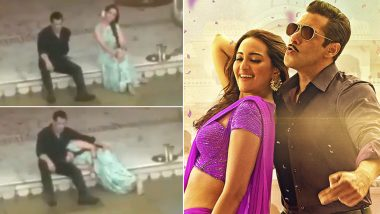 Salman Khan and Sonakshi Sinha's BTS Video Clip From Dabangg 3 Shared With Sleazy Captions; Netizens Touch a New Low With This Maligning