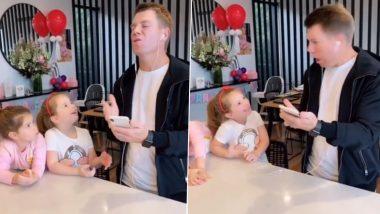 David Warner TikTok Video: Australian Opener Posts Hilarious Rehearsal Session Video with Daughters