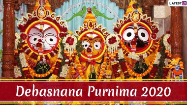Snana Yatra 2020 Live Streaming Online & Telecast From Puri on YouTube: Significance of Debasnana Purnima, HD Images, Wishes, Status and Greetings of Festival Held in Odisha