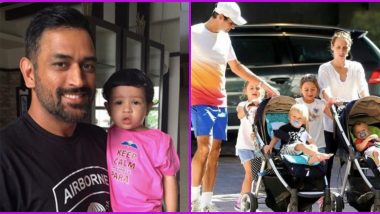 Father's Day 2020: MS Dhoni, Roger Federer and Other Sportspersons Who Are Cool Dads (View Pics)