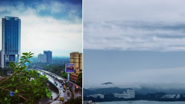 #MumbaiRains Pics and Videos Surface on Social Media After Mumbaikars Wake Up to Heavy Rainfall and Strong Winds