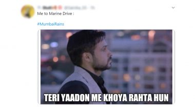 Mumbai Rains Funny Memes and Jokes Trends on Twitter: First Spell of Pre-Monsoon Reminds Netizens of Marine Drive During the Lockdown