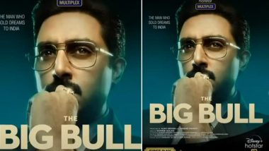 The Big Bull on Disney+ Hotstar: Abhishek Bachchan Looks Sharp As 'The Man Who Sold Dreams to India' on the New Poster (View Pic)
