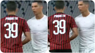 Cristiano Ronaldo Angrily Walks Towards Dressing Room After Missing Penalty, Pushes Lucas Paqueta Post Juventus vs AC Milan, Coppa Italia Semi-Final 2019-20 Game (Watch Video)