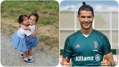 Cristiano Ronaldo Shares Adorable Photo of His Daughters Eva & Alana, Says 'I Fall in Love Every Time I See These Two'