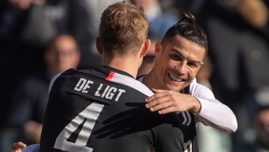 Cristiano Ronaldo Gives Matthijs de Ligt Run for His Money, Juventus Defender Admits of His Struggles to Keep Up With CR7