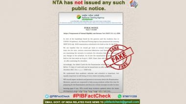 NEET-UG Exam 2020 Postponed to August by NTA? PIB Debunks Fake News, Know Truth Behind Viral WhatsApp Message