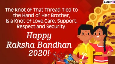 Happy Raksha Bandhan 2020 Images & HD Wallpapers for Free Download Online: Celebrate Rakhi Festival With WhatsApp Stickers, SMS, Quotes, Wishes and Facebook Messages