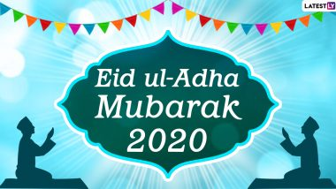 Eid al-Adha 2020 Greetings For Colleagues: WhatsApp Stickers, Facebook Messages, Bakrid Mubarak HD Images and GIFs to Send Wishes of This Islamic Festival
