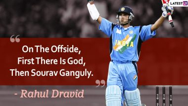 Sourav Ganguly Birthday Special: 7 Quotes About Former Indian Captain by Rahul Dravid, MS Dhoni and Others