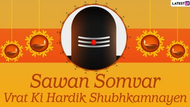 Sawan Somvar Vrat 2020 Wishes and HD Images: WhatsApp Stickers, Facebook Messages, GIFs, and Greetings to Share on This Monday and Worship Lord Shiva