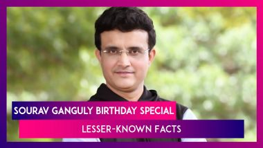 Happy Birthday Sourav Ganguly: Lesser Known Facts About The Former Indian Captain And BCCI President