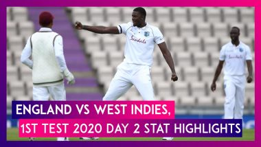 ENG vs WI Stat Highlights, 1st Test 2020, Day 2: Jason Holder Shatters Records With Six-Wicket Haul