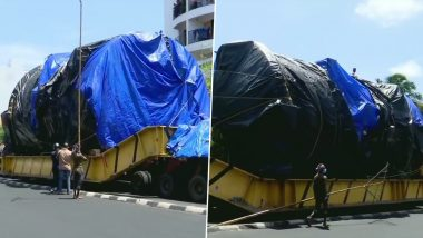 74-Wheel Truck Carrying  Aerospace Autoclave Reaches VSSC in Thiruvananthapuram From Maharashtra After Travelling For Year