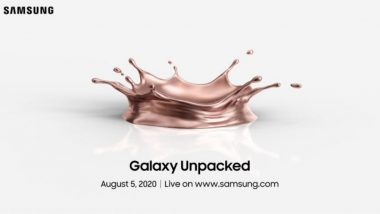 Samsung Unpacked 2020 Launch Event: Watch LIVE Streaming of Samsung Galaxy Note 20 Series, Galaxy Watch 3 & Galaxy Z Fold 2 Launch Event