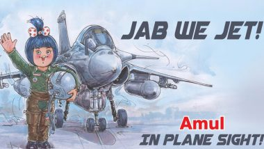 Amul Dedicates Doodle to Rafale Aircraft; Dairy Brand Releases Topical Ad 'Jab We Jet' Ahead of Arrival of Fighter Jets