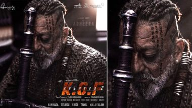 KGF Chapter 2: Sanjay Dutt Drops a Treat for His Fans on His Birthday, Shares His Deadly Look As Adheera in the Upcoming Action Drama (View Pic)