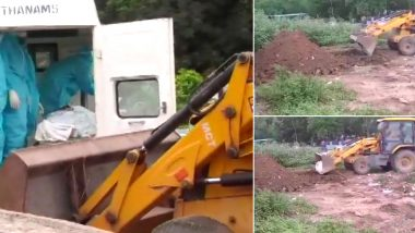 Dead Body of COVID-19 Patient Buried Using Proclainer in Andhra Pradesh's Tirupati, Municipal Commissioner Says 'Had Family's Permission'