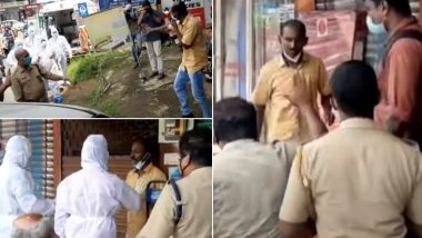 Kerala Health Workers Wearing PPE Kits Chase Man Who Violated Home Quarantine in Pathanamthitta, Nab Him; Video Goes Viral
