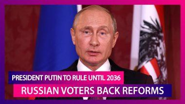 Russian Voters Back Reforms Allowing President Vladimir Putin Seek Two More Terms, Rule Until 2036