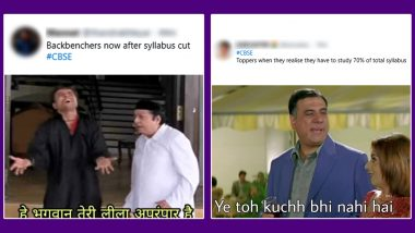 CBSE Reduces Syllabus by 30% for Classes 9 to 12 Amid Pandemic, Happy Students Celebrate the Decision With Funny Memes and Jokes