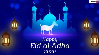 Happy Eid al-Adha 2020 HD Images and Bakrid Mubarak Wallpapers for Free Download Online: WhatsApp Stickers, Facebook Messages and GIF Greetings to Share on Festival Day