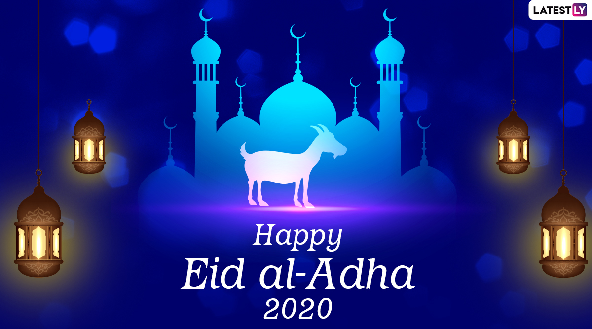 Happy Eid Al Adha 2020 Hd Images And Bakrid Mubarak Wallpapers For Free Download Online Whatsapp Stickers Facebook Messages And Gif Greetings To Share On Festival Day Latestly