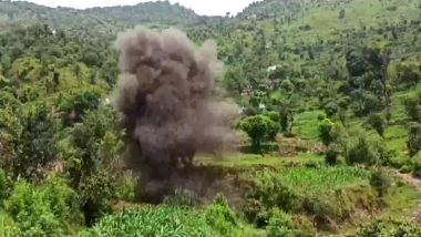 Indian Army Destroys Two Live Bombs, Set Up by Pakistan, in Controlled Explosion in Jammu and Kashmir's Poonch (Watch Video)
