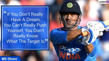 MS Dhoni Quotes With HD Images: Powerful Sayings by World Cup Winning Indian Skipper on Success and Life to Celebrate His 39th Birthday