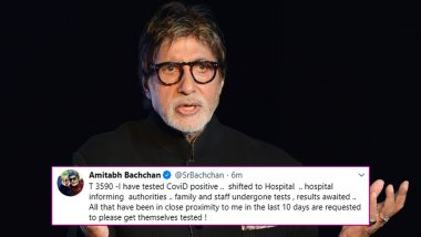 Amitabh Bachchan Tests Positive For COVID-19, Admitted To Mumbai's Nanavati Hospital (View Tweet)