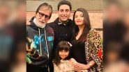 Amitabh Bachchan Thanks Everyone For Praying For Abhishek, Aishwarya Rai and Aaradhya's Quick Recovery From COVID-19 (View Tweet)