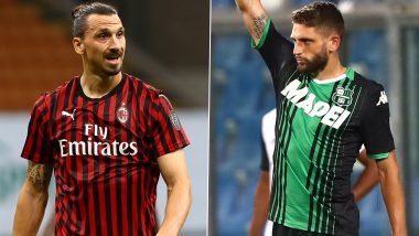Sassuolo vs AC Milan, Serie A 2019-20: Zlatan Ibrahimovivc, Domenico Berardi and Other Players to Watch Out in SAS vs MIL Football Match