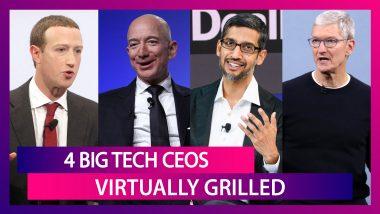 4 Big Tech CEOs - Mark Zuckerberg, Jeff Bezos, Sundar Pichai And Tim Cook Virtually Grilled