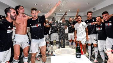 Here's How Cristiano Ronaldo and Other Juventus Players Celebrated Ninth Serie A Title in a Row (Watch Photos and Videos)