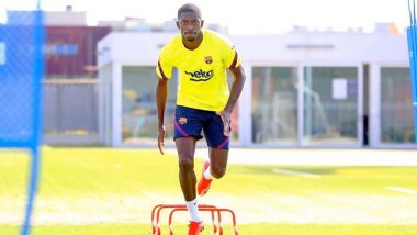 Ousmane Dembele Returns to Barcelona Training Ahead of Champions League Clash Against Napoli