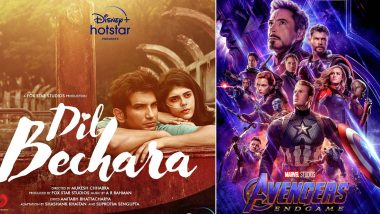 Dil Bechara Beats Avengers: Infinity War and Endgame! The Trailer of Sushant Singh Rajput's Last Release Nears 4 Million Likes In Less Than Eight Hours