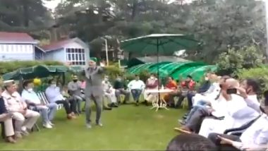 Himachal Pradesh: Ex-CM Virbhadra Singh Organises Lunch Party at His Shimla Residence Amid COVID-19 Restrictions, Watch Video