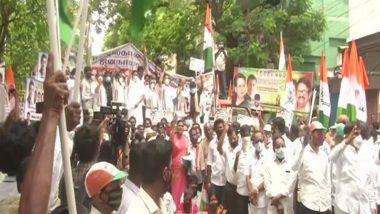 Tamil Nadu Congress Leaders Stage Protest Against BJP Near Raj Bhavan in Chennai to 'Save Democracy'