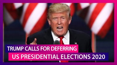 Donald Trump Calls For Deferring US Presidential Elections 2020 Till Voting Can Be Held 'Safely'