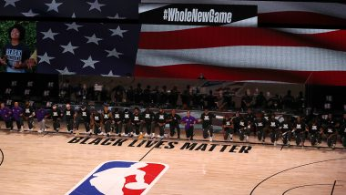 NBA Players Take a Knee in Support of Black Lives Matter Movement As League Restarts in Florida