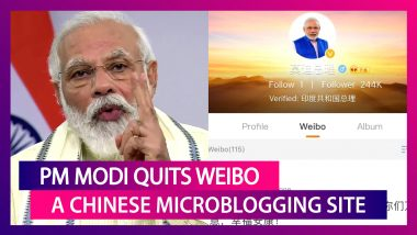 PM Narendra Modi Quits Weibo, Deletes All Posts & Profile Picture From Chinese Microblogging Site