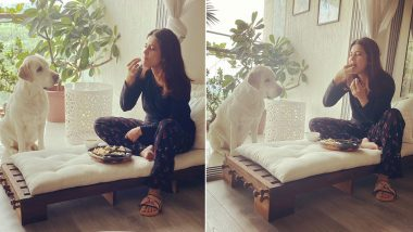 Jennifer Winget Spends Lockdown Time With Her Furry Friend and Some Yummy Food! (View Pics)