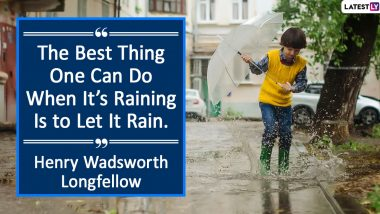 Happy Monsoon 2020 Quotes and HD Images: These Beautiful 'Barish' Sayings Are Perfect for Captions to Get Those Likes Raining on Your Instagram Post!