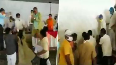 BJP Councillor Deepika Rani Beats Civic Body Employee With Slipper During Nagar Nigam Mathura-Vrindavan Board Meeting, Video Goes Viral