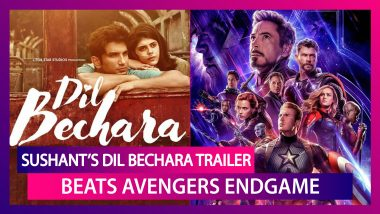 Sushant Singh Rajput's Dil Bechara Trailer Beats Avengers Endgame, Nears 4 Million Likes In 8 Hours